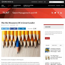 The Six Measures of a Great Leader