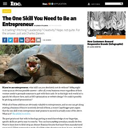 One Skill You Need to Be an Entrepreneur