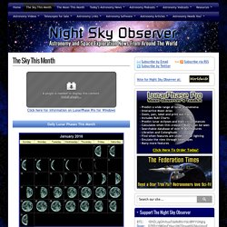 Sky This Month :Night Sky Observer