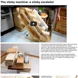 The slinky machine: a slinky escalator