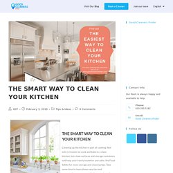 Book Good Cleaners Finder for Quality Cleaning Service - THE SMART WAY TO CLEAN YOUR KITCHEN