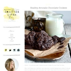 Healthy Avocado Chocolate Cookies