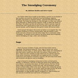 The Smudging Ceremony