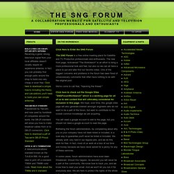 The SNG Forum and Workbench