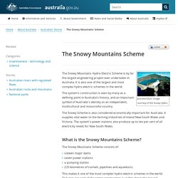 The Snowy Mountains Scheme
