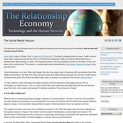The Social Media Vacuum | The Relationship Economy...... - Flock