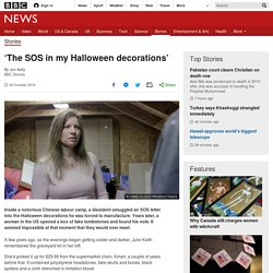 'The SOS in my Halloween decorations'