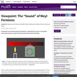 "The ""Sound"" of Weyl Fermions"