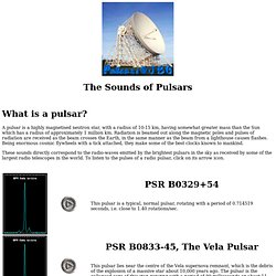 The Sounds of Pulsars