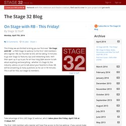 The Stage 32 Blog