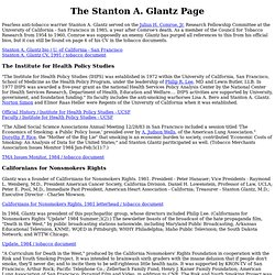 The Stanton A. Glantz Page