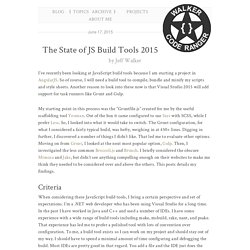 The State of JS Build Tools 2015