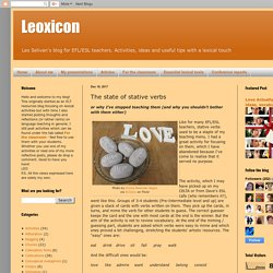 Leoxicon: The state of stative verbs