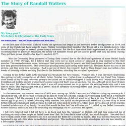The Story of Randall Watters part 3