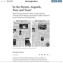 'In the Streets, Anguish, Fury and Tears'