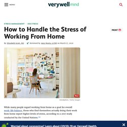 The Stress of Working From Home