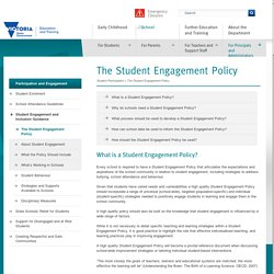 The Student Engagement Policy