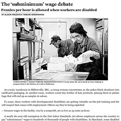 The 'subminimum' wage debate Chicago Tribune 7/5/14