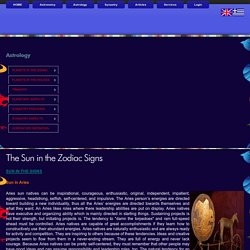 The Sun in the Zodiac Signs