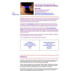 The Super Cat Alcohol Stove