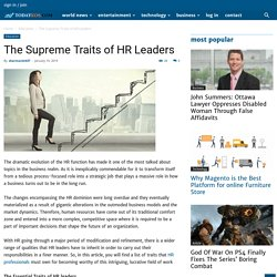 The Supreme Traits of HR Leaders