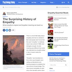 The Surprising History of Empathy