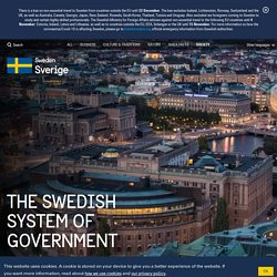 The Swedish system of government