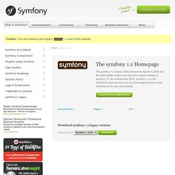 symfony - open-source PHP5 web framework