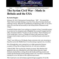 The Syrian Civil War - Made in Britain and the USA