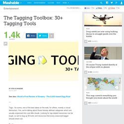 The Tagging Toolbox: 30+ Tagging Tools