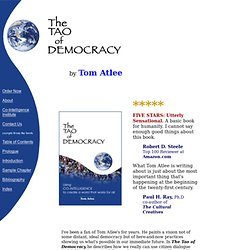 The Tao of Democracy - Home Page