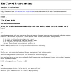 The Tao of Programming
