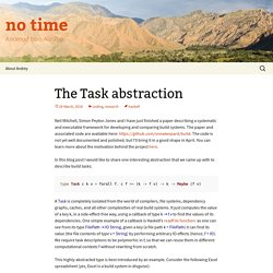 The Task abstraction