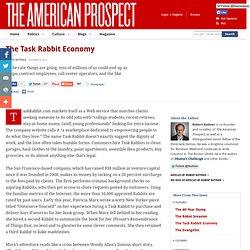 The Task Rabbit Economy