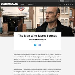 The Man Who Tastes Sounds
