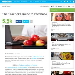 The Teacher's Guide to Facebook
