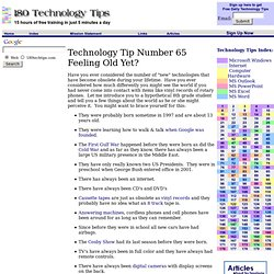 The technology generation gap - 180 Free Technology Tip #65