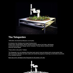 The Telegarden Website