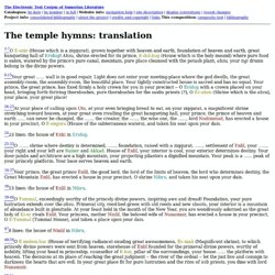 The temple hymns: translation