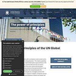 UN Global Compact - The Ten Principles