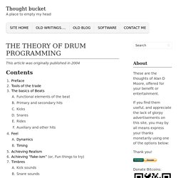 The Theory of Drum Programming