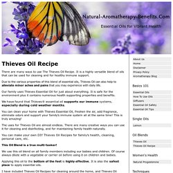 The Thieves Oil Recipe