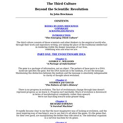 The Third Culture - Contents