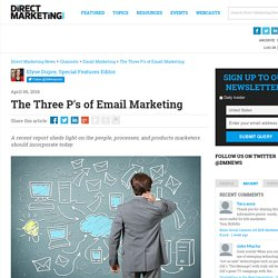 The Three P's of Email Marketing