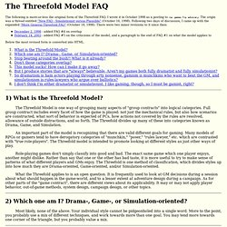 The Threefold Model FAQ