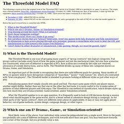 The Threefold Model FAQ