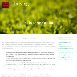 The Thriving Quotient - The Thriving Project