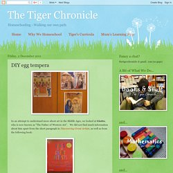 The Tiger Chronicle: DIY egg tempera
