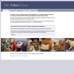 The Tolkien Trust - Home page