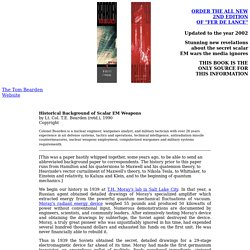 The Tom Bearden Website